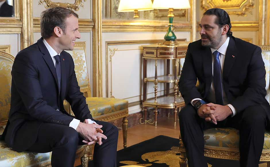 Macron has been attempting to help broker a solution to a political crisis that has raised fears over Lebanon's fragile democracy. AP