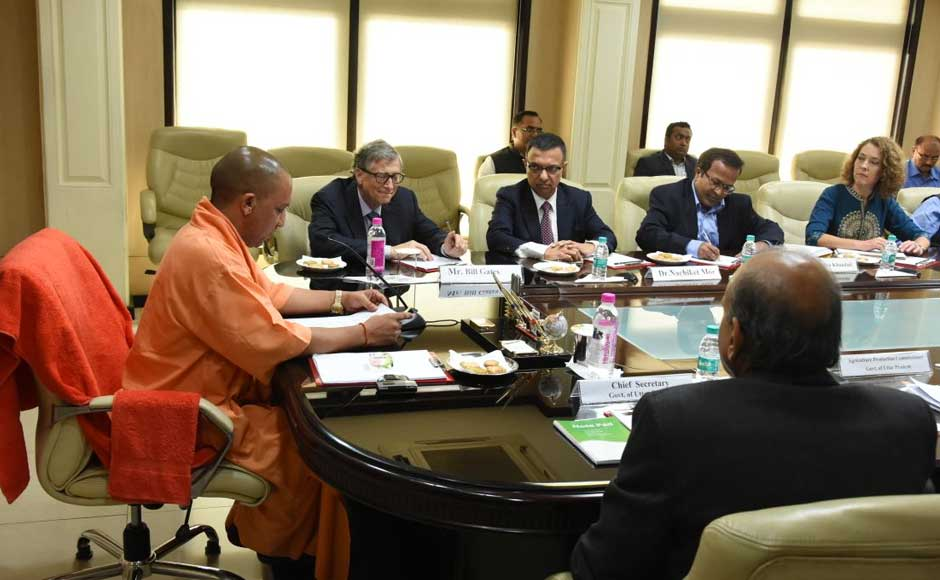 The chief minister was informed by Gates that the foundation has expertise in sewage treatment solutions and they were working on various projects in other states and would also like to work in this area in Uttar Pradesh to treat municipal wastes and help clean rivers. Twitter @CMOfficeUP