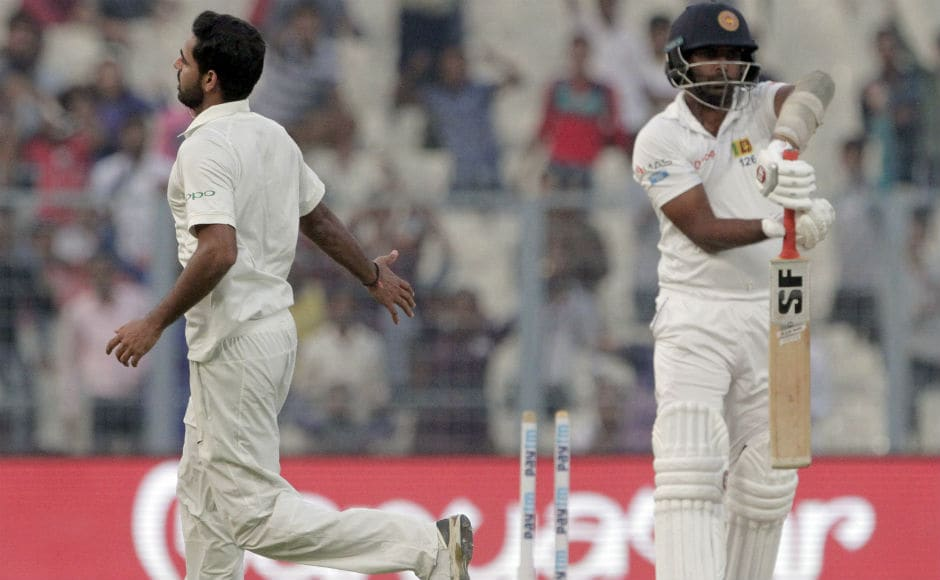 In the second innings, Bhuvneshwar Kumar's figures read four wickets, eight runs in 11 overs. It was a bowling masterclass from the pacer. AP
