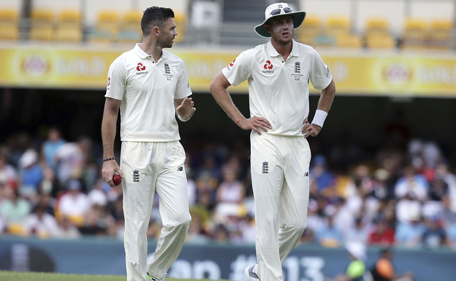Experienced bowling duo of James Anderson, left, and Stuart Broad too couldn't make inroads in the Australian batting line up in the 2nd innings. AP
