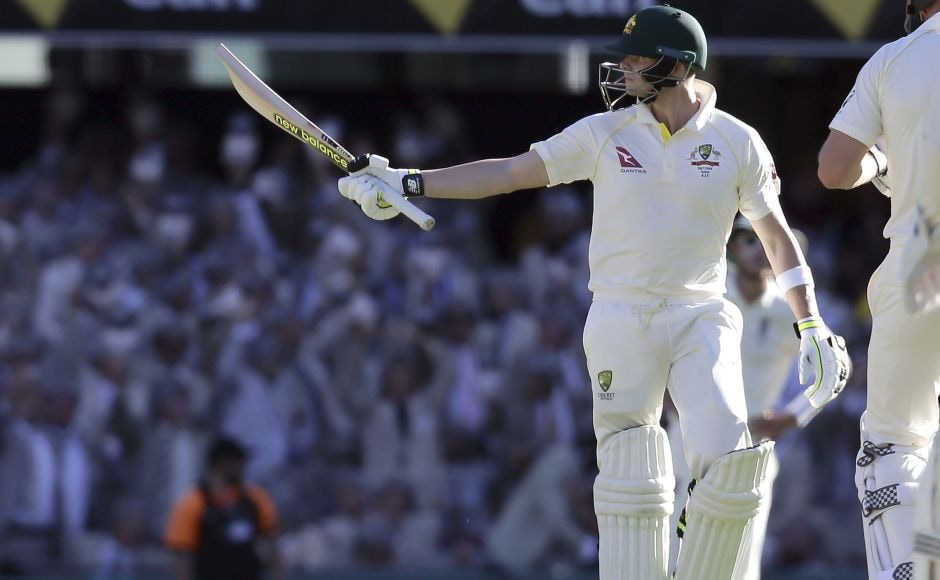 Steve Smith then led Australia's rescue mission in Brisbane with a battling unbeaten 64 runs. AP