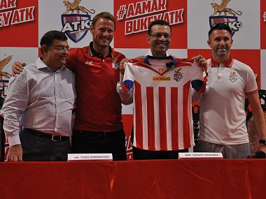 ATK unveil official jersey of the team on Monday. Image Courtesy: Twitter @WorldATK