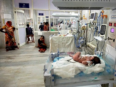 The NICU ward of Ahmedabad Civil Hospital where 18 infants died last week. PTI