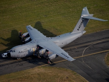 An aerial view of an Airbus A400M aircraft. Reuters.