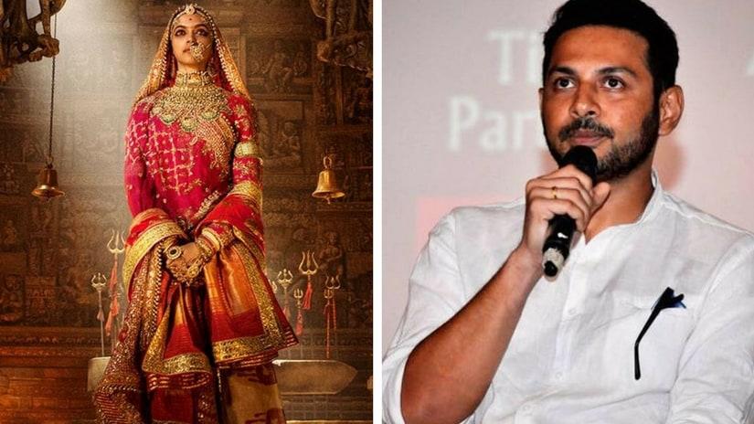 Padmavati poster (left); Apurva Asrani (right). Images via Facebook
