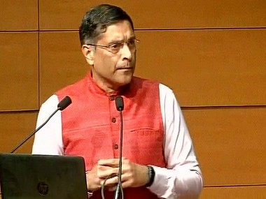 Chief economic advisor, Arvind Subramanian. PIB.