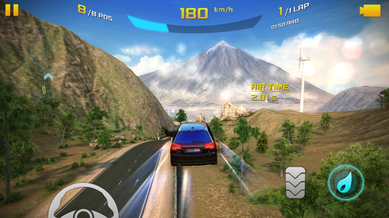 Asphalt 8: Airborne at max graphic setting was playable with just one or two occasional frame-drops even through extended sessions.