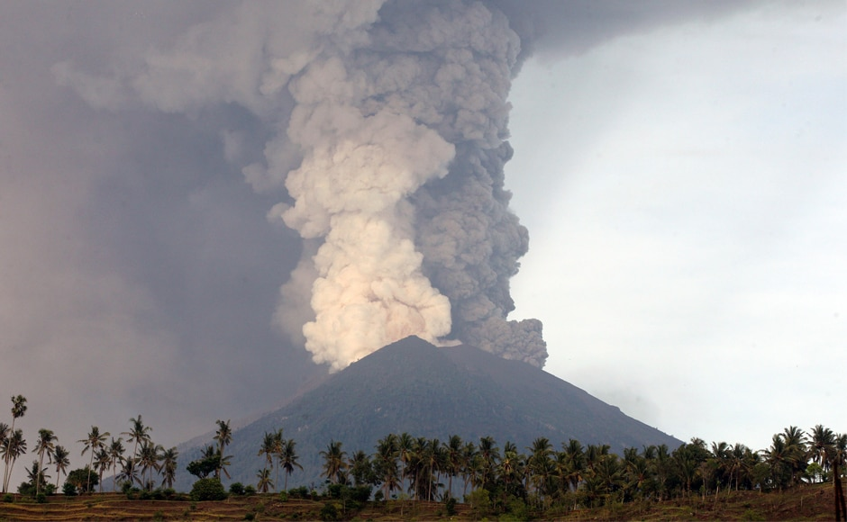 The alert for Mount Agung volcano belching huge plumes of smoke on Indonesia's resort island of Bali has been raised to the highest level, officials said on Monday, with fears a significant eruption could be imminent. AP