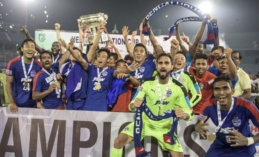 File image of Bengaluru FC players. Twitter: @bengalurufc