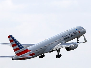 An American Airlines Boeing 757 aircraft takes off. Image: Reuters