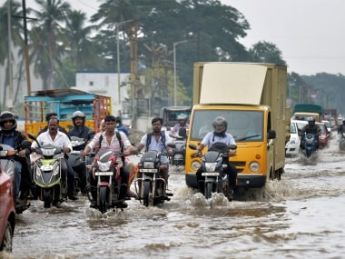 Flooded streets in Chennai. PTI