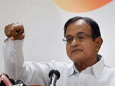 File image of senior Congress leader P Chidambaram. PTI
