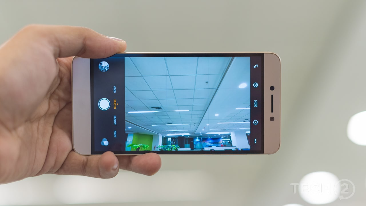 The camera UI takes a while to get used to but is full of controls and dedicated modes. Image: tech2/Rehan Hooda