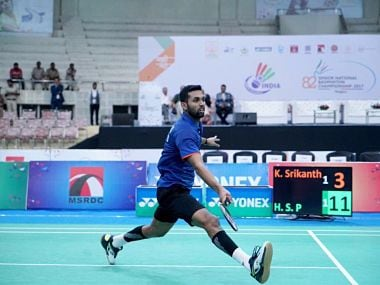 With wins over Lee Chong Wei and Chen Long this season, it was no fluke that Prannoy could beat Srikanth in the final. Image courtesy: Twiiter @SNBCIndia2017