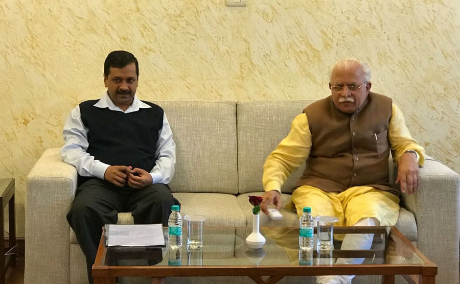 Speaking about the meeting, Kejriwal said that his meeting with Khattar indicated that collective leadership is needed to tackle the issue of air pollution. Twitter @AamAadmiParty