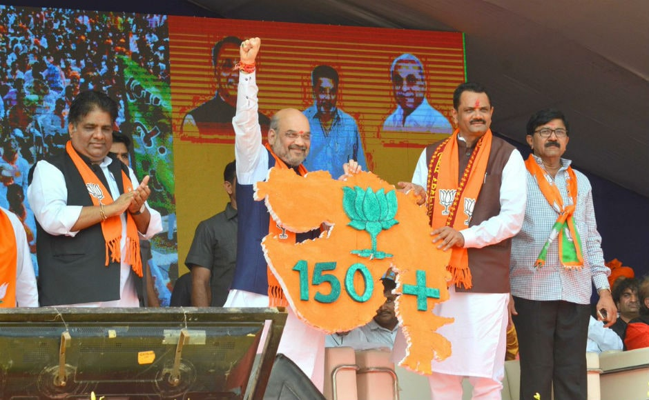 BJP President Amit Shah has asserted that his party will win over 150 out of the total 182 seats in the Gujarat Assembly elections. Shah was campaigning for state party president Jitu Waghani in Bhavnagar. Twitter @AmitShah
