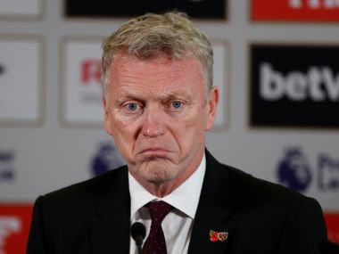 File image of West Ham United manager David Moyes during the press conference. Reuters