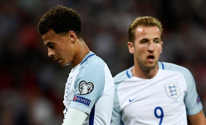 Dele Alli (L) and Harry Kane (R) haven't been able to reproduce their Tottenham Hostpur performances with England. Reuters