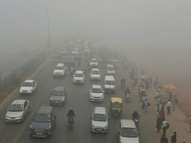 File image of smog in Delhi. PTI