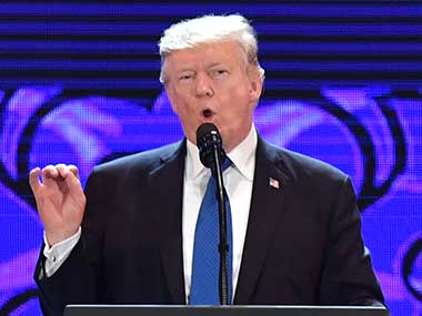 US president Donald Trump speaks at the Asia-Pacific Economic Cooperation (APEC) CEO Summit at the Aryana Convention Center in Danang, Vietnam. AP