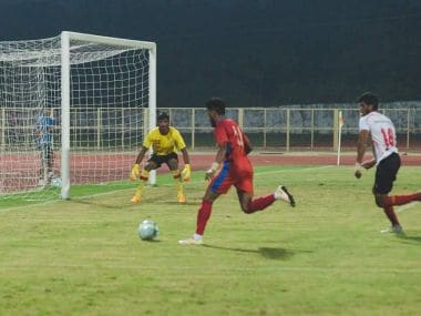 FC Goa and East Bengal in action during the pre-season friendly game. Twitter/@FCGoaOfficial