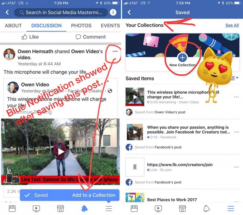 Facebook-Collections