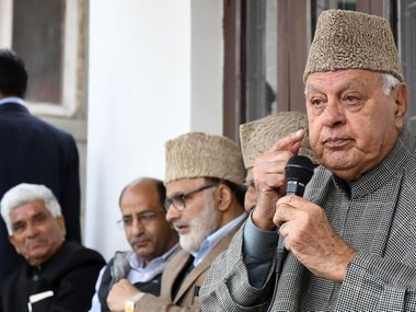 File image of senior National Conference leader Farooq Abdullah. Firspost/Samir Yasir