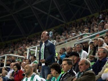 File image of Ferencvaros' fans. Reuters