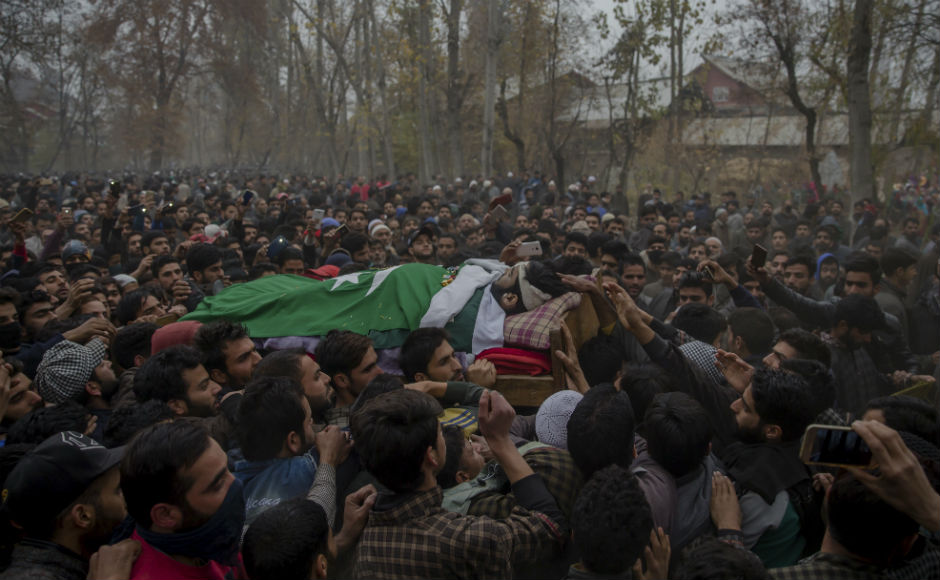 Bhat and Mir were killed in an encounter with security forces in Kulgam on Wednesday. The two militants had attacked a police party resulting in a