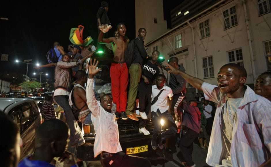 On the streets, the news that his long and often brutal leadership was over sparked celebrations on Tuesday evening. Car horns honked and large crowds erupted into ecstatic cheers and dancing.