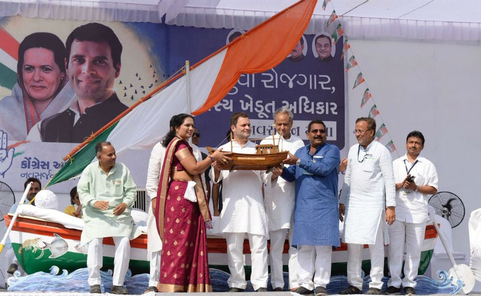 Attacking the BJP, Congress vice-president said that BJP's Gujarat Model's truth is bullets on Patidars, sticks on the back of Dalits in Una, and hunger of tribals. Twitter/@INCGujarat