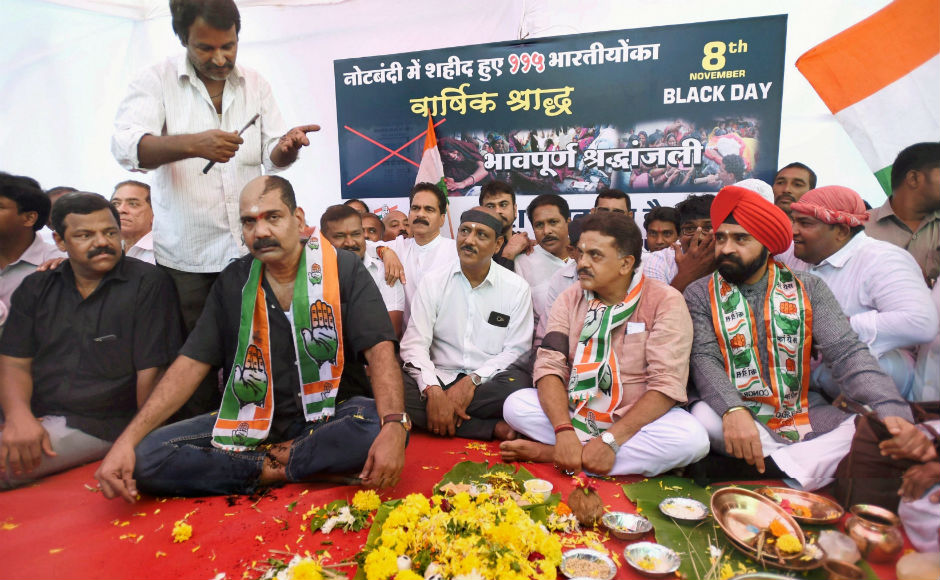 In Mumbai, the city Congress held a demonstration at Azad Maidan against the note ban where the party workers shaved their heads to mark the protest. NCP too staged protests at various parts of the city. PTI
