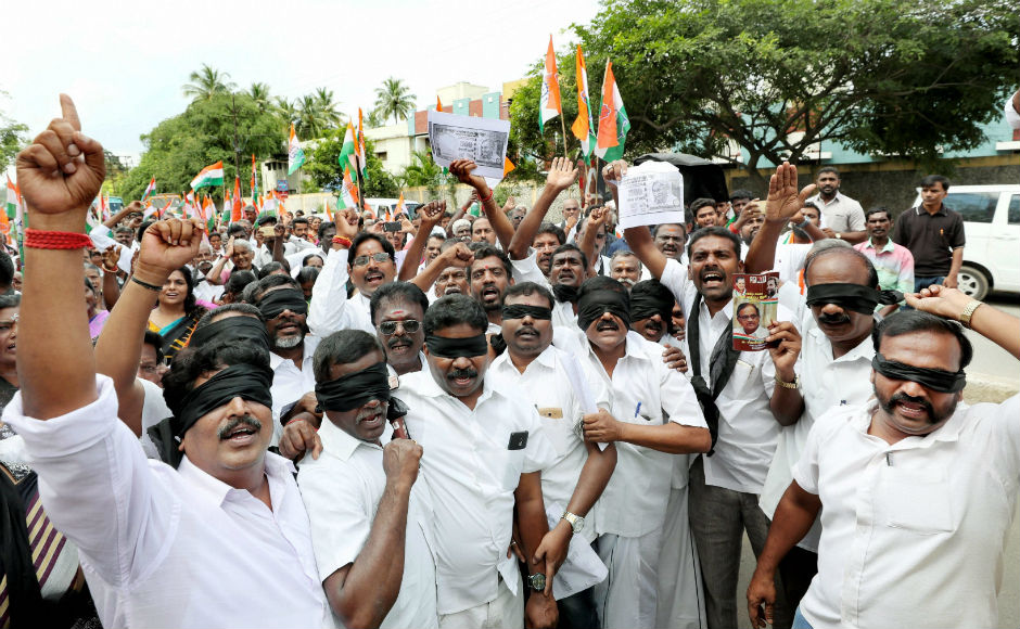 In Chennai, Congress and DMK held protests where DMK chief MK Stalin called 8 November as a black day in the history of India. PTI