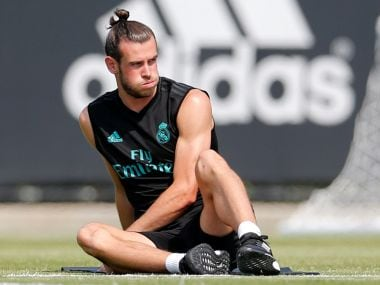 File image of Real Madrid's Gareth Bale during training. Reuters