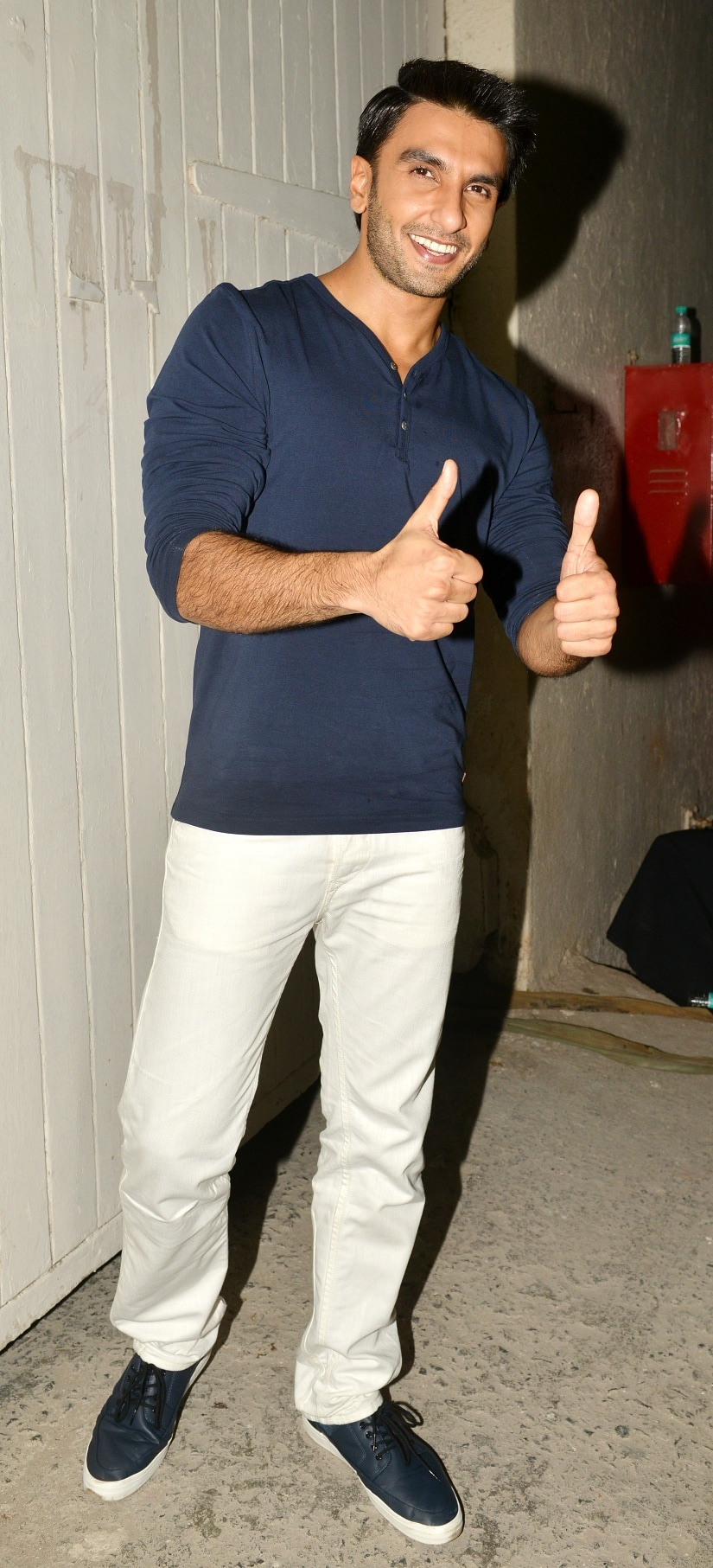 MUMBAI, INDIA MARCH 09: Ranveer Singh at Mehboob Studio in Mumbai.(Photo by Milind Shelte/India Today Group/Getty Images)