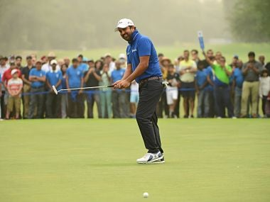 NEW DELHI, INDIA - NOVEMBER 05: Shiv Kapur of India pictured during round four of the Panasonic Open India at Delhi Golf Club on November 5, 2017 in New Delhi, India. (Photo by Arep Kulal/Asian Tour/Asian Tour via Getty Images)