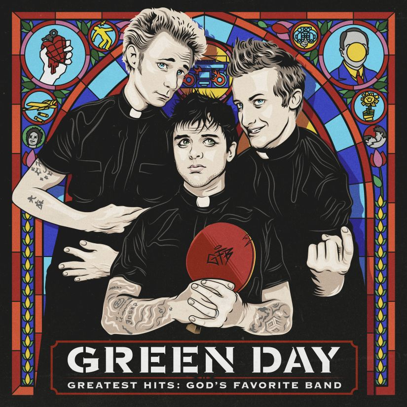 "This cover image released by Reprise Records shows ""Greatest Hits: God's Favorite Band,"" by Green Day. (Reprise Records via AP)"