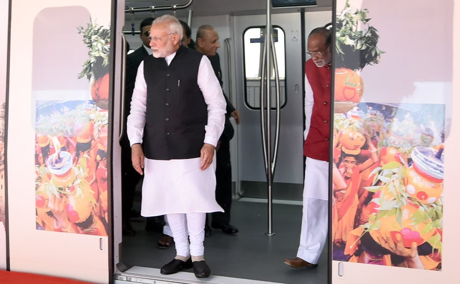 Prime Minister Narendra Modi on Tuesday inaugurated the Hyderabad Metro Rail, the largest such project in the world in Public Private Partnership (PPP) mode. PIB