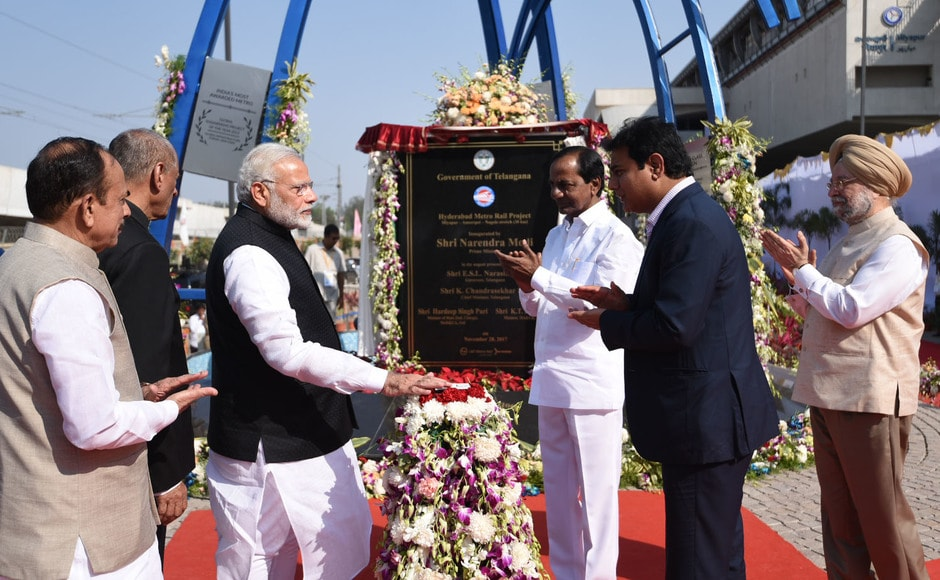 The metro's launch comes as a great relief for the management team of L&T Metro Rail Hyderbad who had gone through several ups and downs caused due to political interventions, social activism, delays and cost hikes for several years. PIB