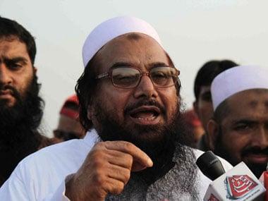 File image of JuD chief Hafiz Saeed. AFP