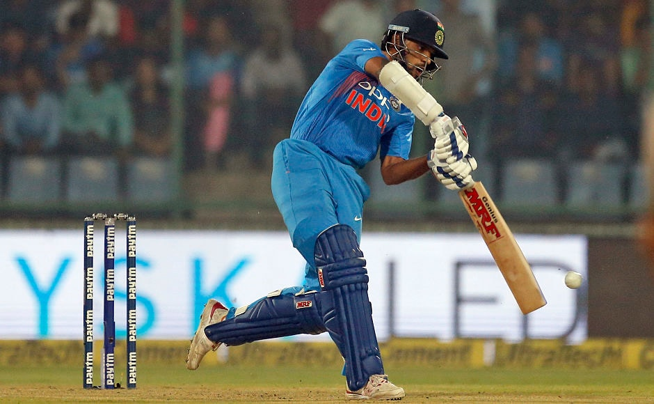 Dhawan and Sharma scored 80 each and put up 158 runs for the opening partnership. AP
