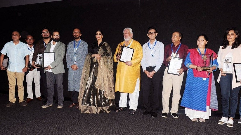 Sridevi at the inauguration ceremony of Indian Panorama section during IFFI 2017. Image via Facebook
