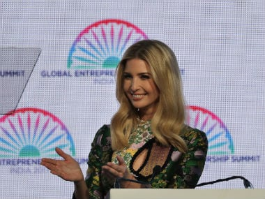 Ivanka Trump spoke a lot on women empowerment at the GES. AP