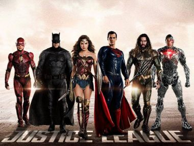 A Justice League poster, presumably. See? It's got all the characters there.