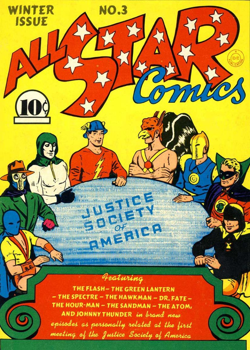 Justice Society of America was a precursor to the Justice League, and even had some of the same members. DC Comics