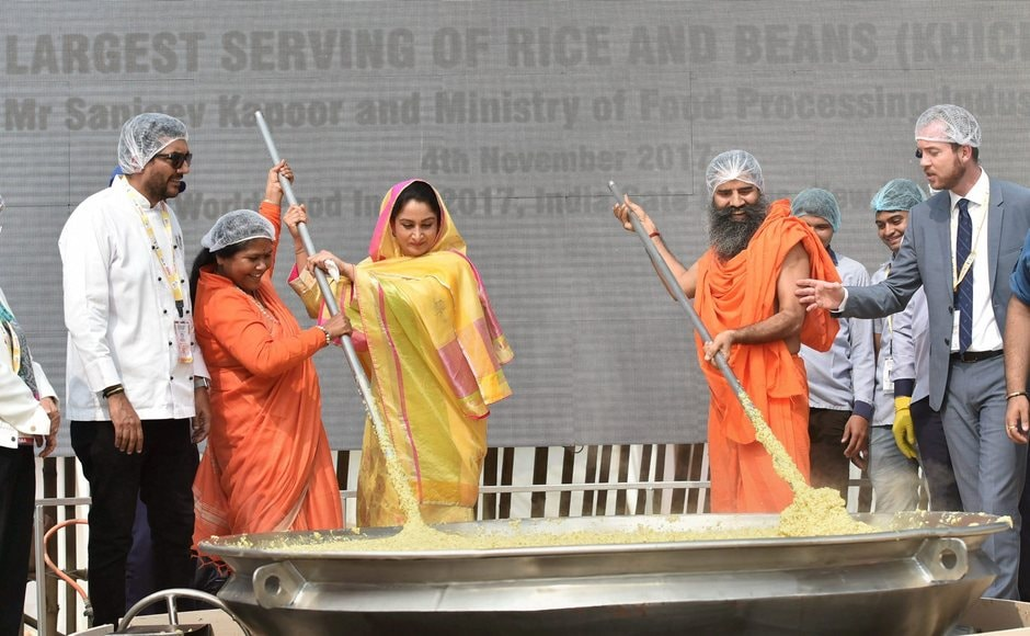 The preparation to create a world record and popularise Khichdi as Brand India food was part of 'Great Indian Food Street' at the global event organised along with industry body CII, that features traditional food from more than 20 states. PTI
