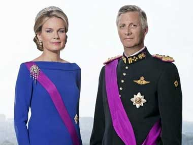 File image of King Philippe and Queen Mathilde of Belgium. Twitter @BelgiuminIndia