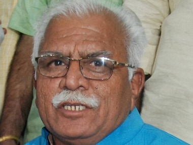 File image of Haryana chief minister Manohar Lal Khattar. PTI