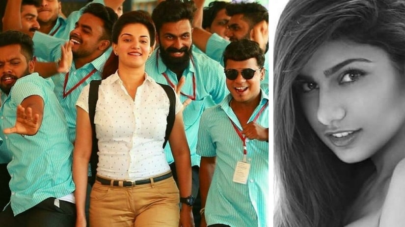 Still from the 2017 film Chunkzz (left); Mia Khalifa (right). Images via Facebook