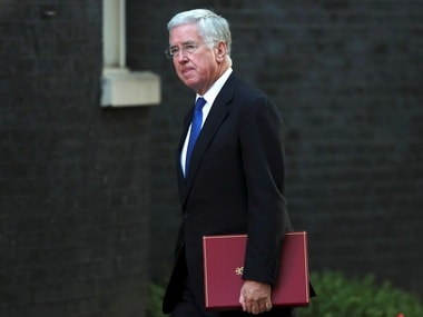 File image of Michael Fallon, Britain's Former Secretary of State for Defence, who resigned on Thursday following allegations of sexual harassment against him. Reuters